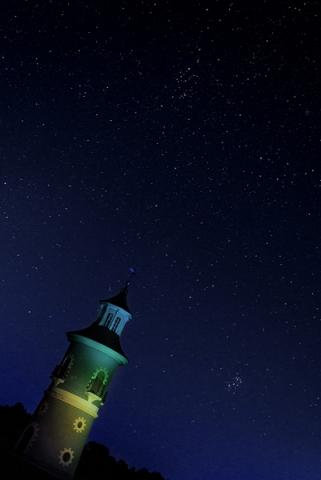 Der Leuchtturm am Fasanenschlösschen nahe Schloss Moritzburg