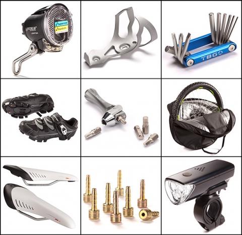 Fahrradteile Produktfotos